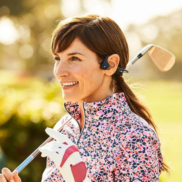 AFTERSHOKZ Casque Bluetooth Trekz Air Gris à conduction osseuse avec micro